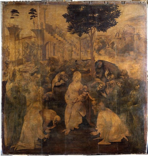 Adoration of the Magi - Current Location Uffizi gallery FLorence