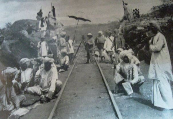 Team of workers near voi